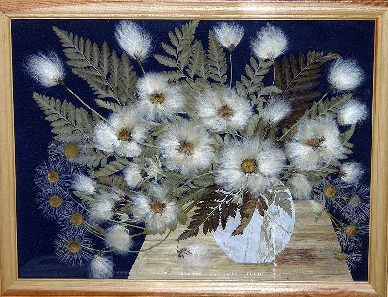 Поделки из сухих цветов и листьев своими руками